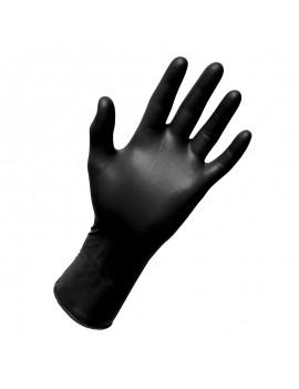 M Size Black Nitrile Glove Powder free, 100pcs