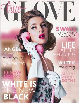 "TrueGlove ""L"" White Nitrile glove"
