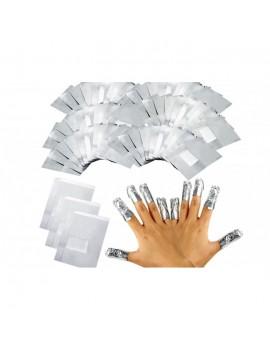 VIDI Nail Polish Remover Tin Foil Wraps Paper, 100Pcs